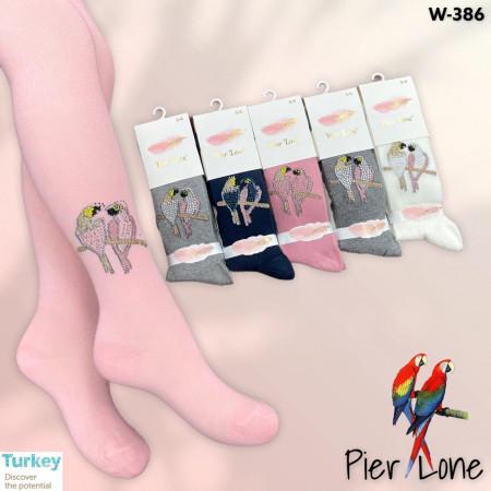 PC1199. Детские хлопковые колготки с камешками. для девочек, Pier Lone.