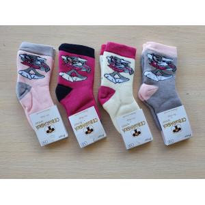 KS1207. Детские махровые носки с принтами, Чебурашка.