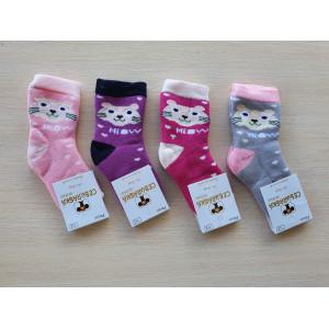 KS1206. Детские махровые носки с принтами, Чебурашка.