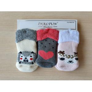 KS1266. Детские махровые носки с отворотом, Inaltun.
