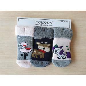 KS1265. Детские махровые носки с отворотом, Inaltun.