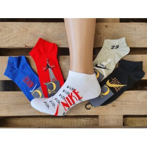 MS1069. Мужские хлопковые, короткие носки, Nike Jordan.