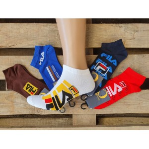 MS1071. Мужские хлопковые, короткие носки, Fila.
