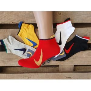 MS1068. Мужские хлопковые, короткие носки, Nike.