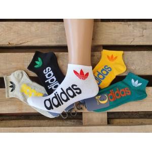 MS1073. Мужские хлопковые, короткие носки, Adidas.