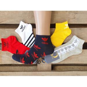 MS1171. Мужские короткие, хлопковые носки, Adidas.