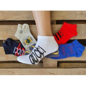 MS1064. Мужские короткие, хлопковые носки, Gucci.