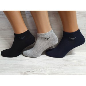 MS1109. Мужские хлопковые, короткие носки с сеткой, IDS.