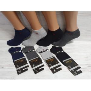 MS1062. Мужские хлопковые, короткие носки, Haza.