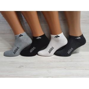 MS1033. Мужские короткие, хлопковые носки, Adidas.