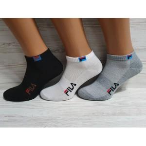 MS1035. Мужские короткие, хлопковые носки с сеткой, Fila.