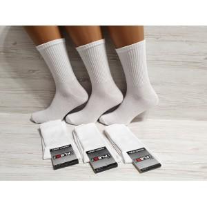 MS1090. Мужские хлопковые, высокие носки, Flax.