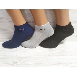 MS1107. Мужские короткие, хлопковые носки с сеткой, IDS.