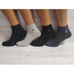 MS1119. Мужски хлопковые носки с лайкрой, средней высоты, IDS