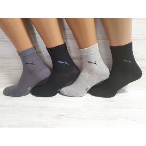 MS1122. Мужские хлопковые носки с лайкрой, средней высоты, IDS
