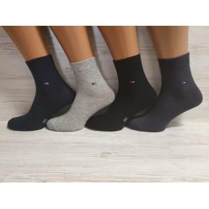 MS1121. Мужские хлопковые носки с лайкрой, средней высоты, IDS