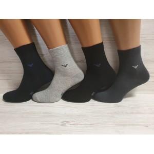 MS1120. Мужские хлопковые носки с лайкрой, средней высоты, IDS