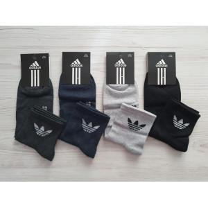 MS1188. Мужские хлопковые носки, средней высоты, Adidas.
