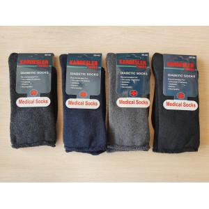 MS1227. Подростковые махровые, высокие носки без резинки, Kardesler.