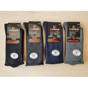 MS1223. Мужские махровые, высокие носки без резинки, Kardesler.