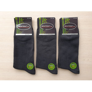 MS1292 Мужские высокие бамбуковые носки с лайкрой  Monteks