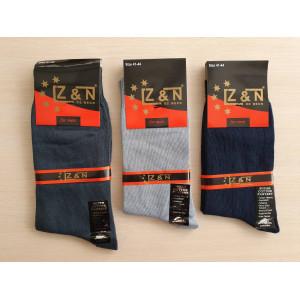 MS1163. Мужские высокие, хлопковые носки с лайкрой, Z&N.