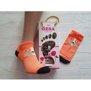 WS1075. Женские короткие, хлопковые носки, Osca