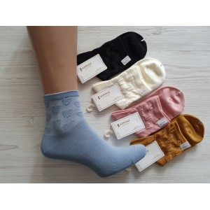 WS1076. Женские хлопковые носки, средней высоты, Корона.