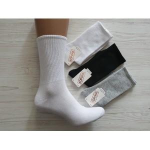 WS1279. Женские высокие, хлопковые носки с лайкрой, Корона