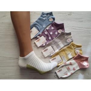 WS1054. Женские хлопковые, короткие носки, Niken.