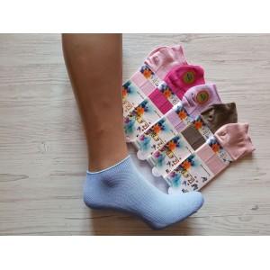 WS1022. Женские короткие, бамбуковые носки с сеткой, Z&N.