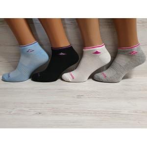 WS1016. Женские хлопковые, короткие носки с сеткой, Inaltun.