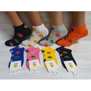 WS1033. Женские хлопковые носки с принтами, Smile.