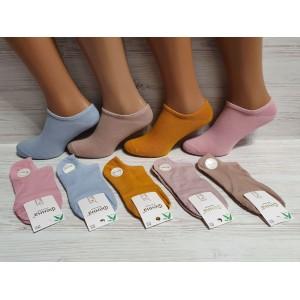 WS1027 Женские короткие, хлопковые носки с тормозами, Фенна.