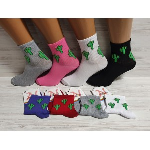 WS1083. Женские хлопковые, высокие носки, Nilado