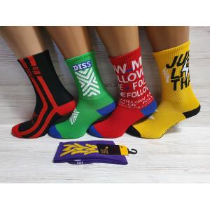 WS1147. Подростковые высокие, хлопковые носки с принтами.