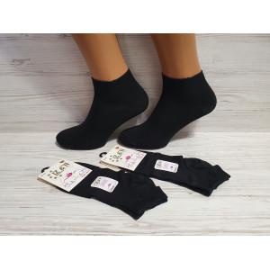 WS1159. Женские, короткие, однотонные носки, Z&N modal.