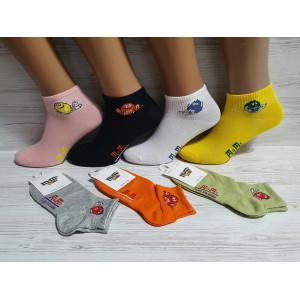 WS1169. Женские короткие, хлопковые носки, M&Ms