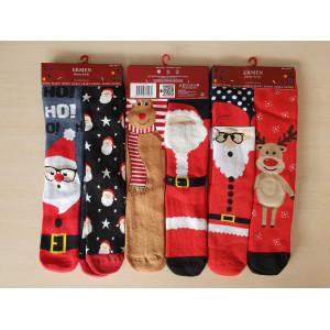 WS1244. Женские новогодние, махровые, высокие носки, Ekmen.